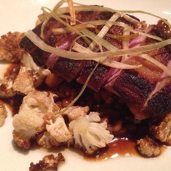 Duck Breast Atop Roasted Cauliflower - Vin48 Restaurant Wine Bar, Avon, CO