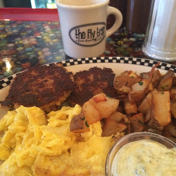 Crab Cakes And Eggs @ Fly Trap Restaurant