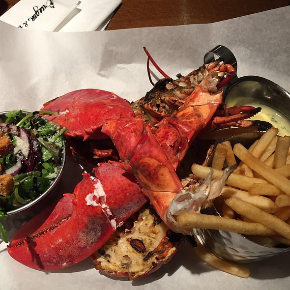 Grilled Lobster With Lemon & Garlic Butter at Burger And Lobster