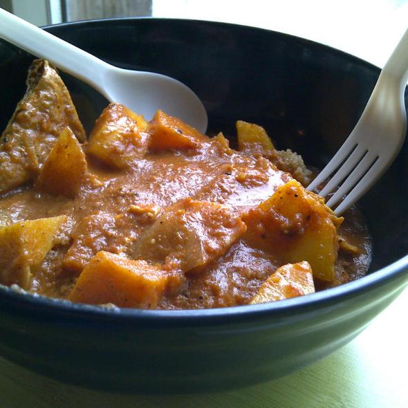 Coconut Curry on Quinoa and Red Lentils @ Urban Herbivore