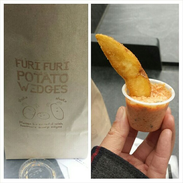 Furi Furi fries with Yuzu Salt and Spicy Cod Roe Sauce @ Yonekichi