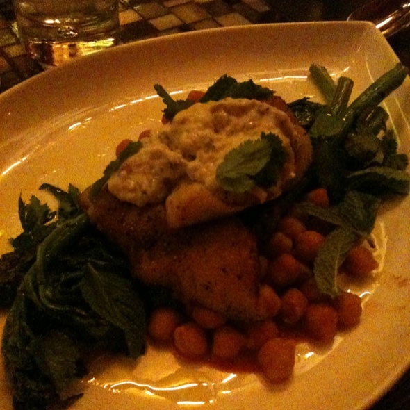 Rock Fish With Eggplant Yogurt & Chickpea Stew @ Gitane