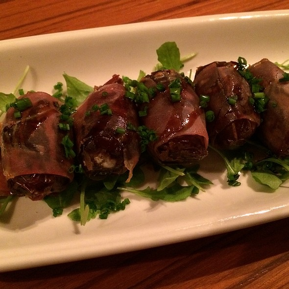 Serrano Ham Wrapped Dates With Bleu Cheese - Cin-Cin Wine Bar, Los Gatos, CA