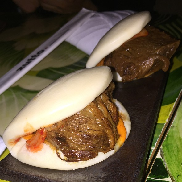 Short Rib Steamed Buns - Zutto Japanese American Pub, New York, NY