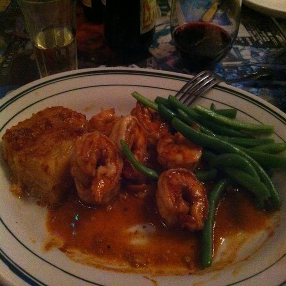 Cajun Bbq Shrimp With Blue Lake Beans And Sweet Potato Gratin - Cajun Pacific, San Francisco, CA