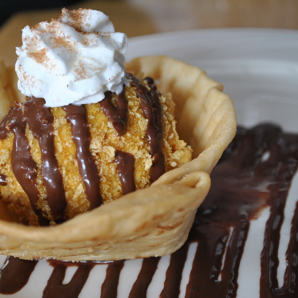 Fried Ice Cream @ Casa Chapala Mexican Restaurant