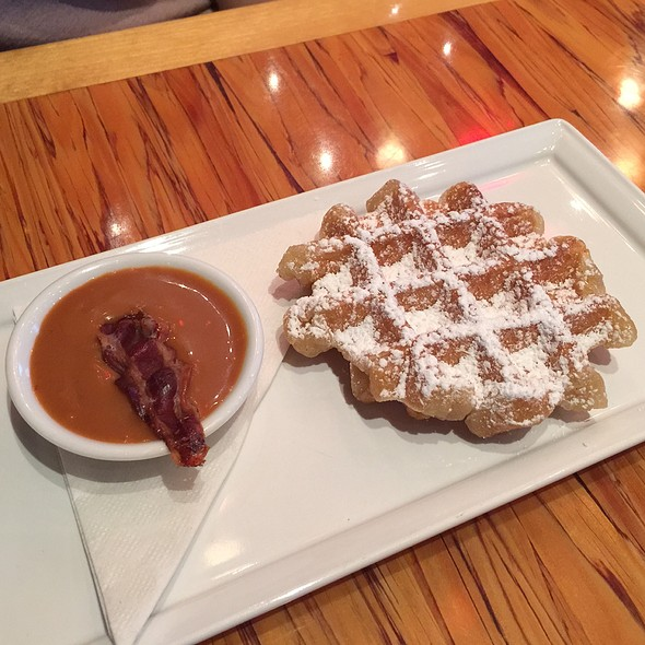 Waffle With Bacon Caramel - Chambar, Vancouver, BC