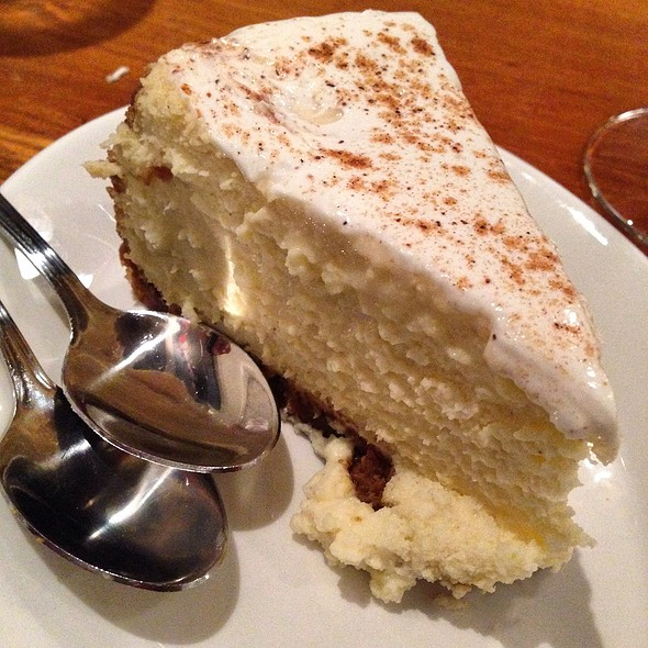 egg nog cheesecake @ The Fish Market San Mateo