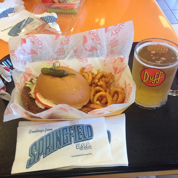 Krustyburger And Duff Beer @ Krustyburger