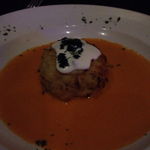 Crab Cake with Lobster Sauce