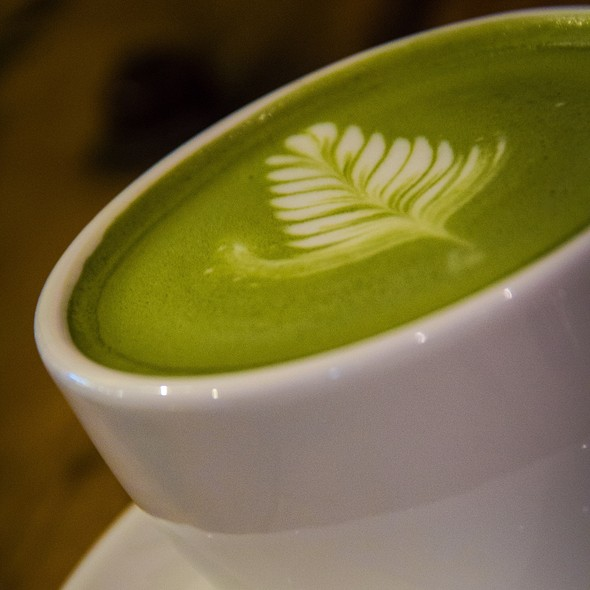 Green Tea Latte @ Wheeler's Cafe