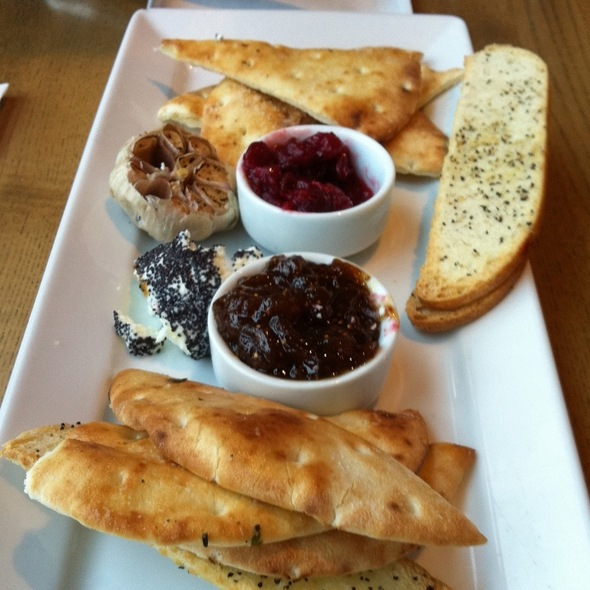 Goat Cheese Fig Jam Spiced Cranberry Naan @ Milestones Grill + Bar