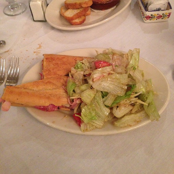 Half Cuban Sandwich With 1905 Salad @ Columbia Restaurant: Ybor City