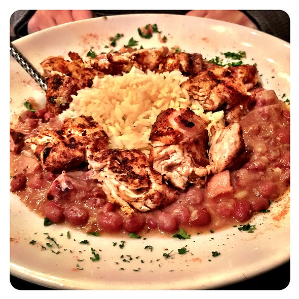 Red Beans And Rice With Jerk Chicken @ Moe Joe's