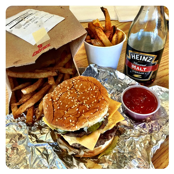 Bacon Cheese Burger @ Five Guys Burgers & Fries