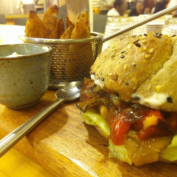 Exotic Veggies Burger @ The Rolling Pin