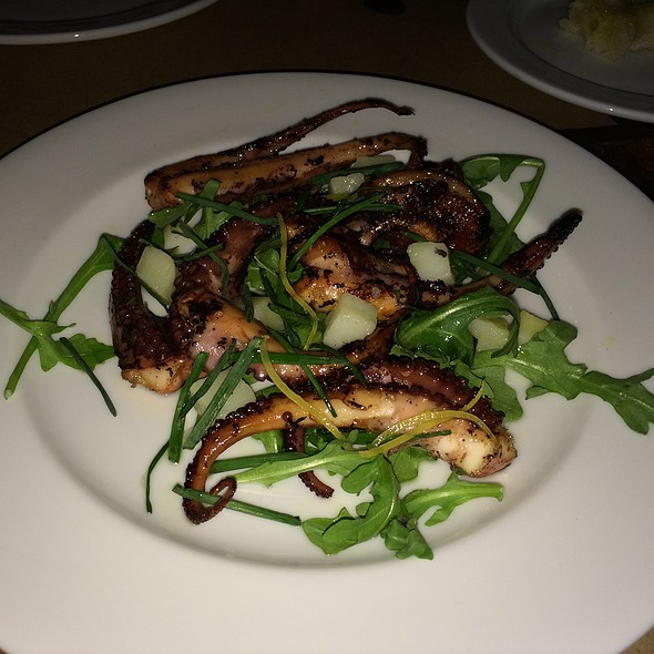 Wood Grilled Octopus, Cured Lemon, Potato And Chives