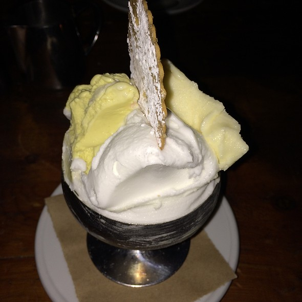 Pineapple Sorbet, Lemon Sorbet, Pistachio Gelato