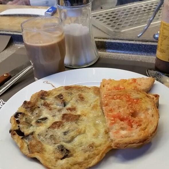 Eggplant omelette @ Bar Pinotxo