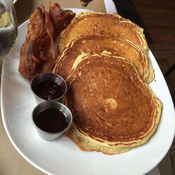 Buttermilk Pancakes with bacon - Stone Park Cafe, Brooklyn, NY