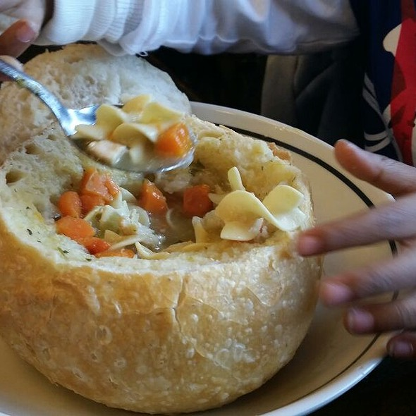 Chicken Noodle Soup Bread Bowl @ Corner Bakery Cafe Warwick Ri