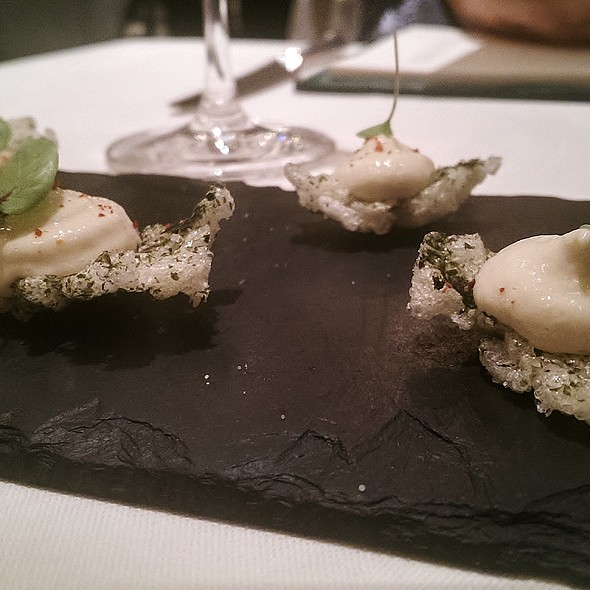 Seaweed Crackers - Roux at The Landau, London