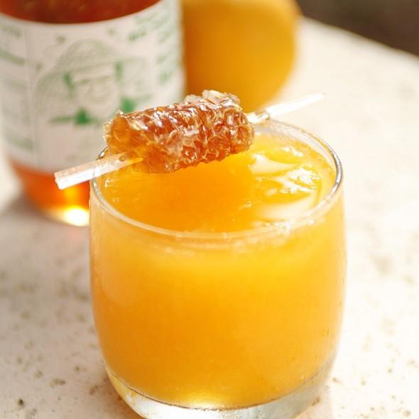 Orange Juice with Honeycomb - Cobalt Restaurant and Lounge - Vero Beach Hotel and Spa, Vero Beach, FL