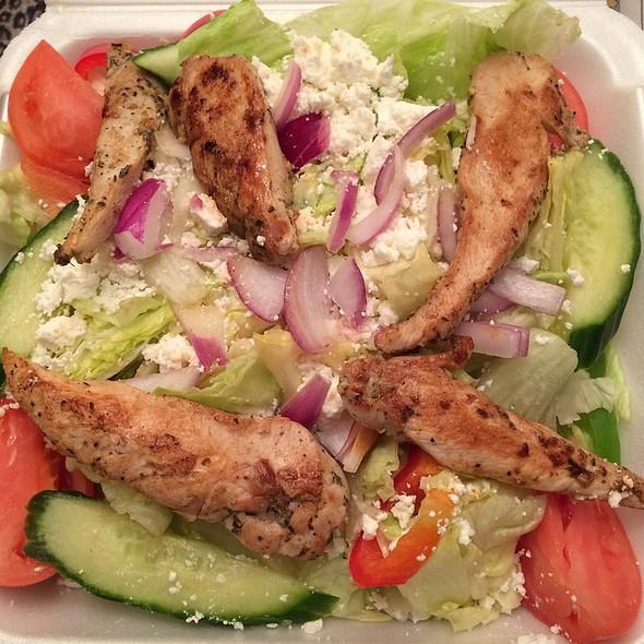 Greek Salad With Chicken @ Windfield's Restaurant