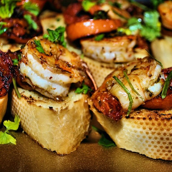 Grilled Shrimp And Roasted Tomato Bruschetta @ Home