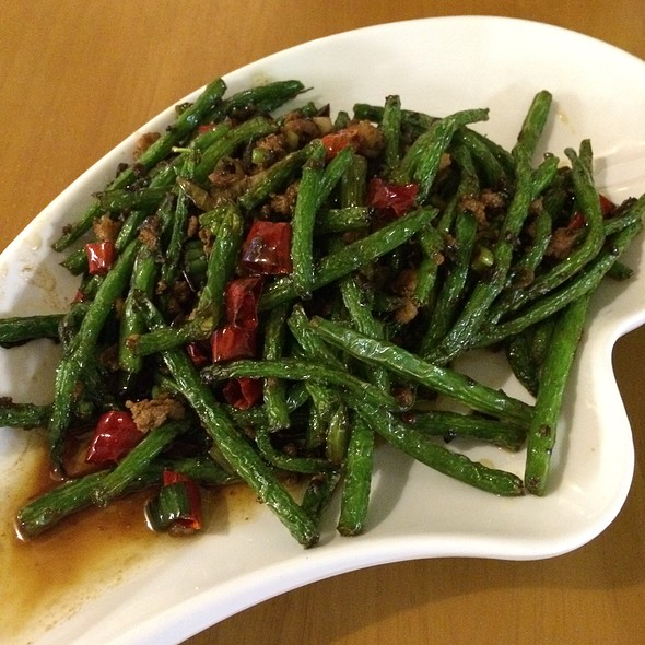 Dry Fried Green Beans With Minced Pork @ Chilli Cool