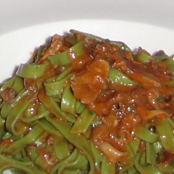 Spinach Fettucine with Duck Ragu @ Felidia Ristorante Inc