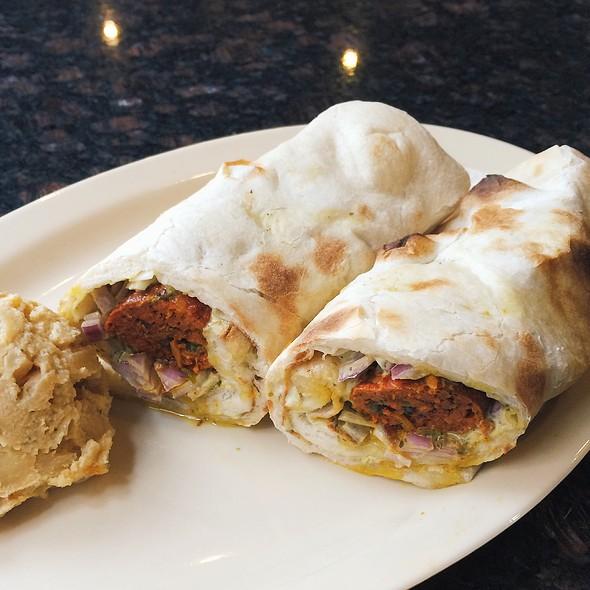 Spicy Lamb Seekh Kabob Wrap @ Tandoori Oven