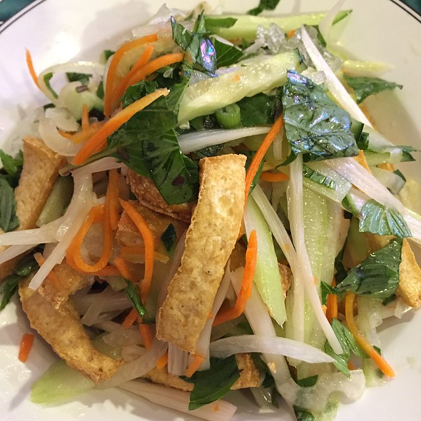 Lotus Root Tofu Salad