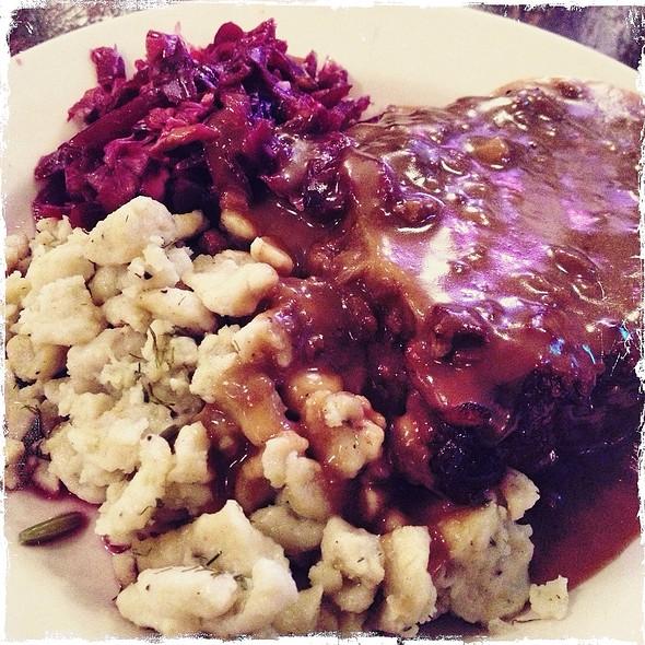 sauerbraten @ Jacob Wirth Co. Restaurant