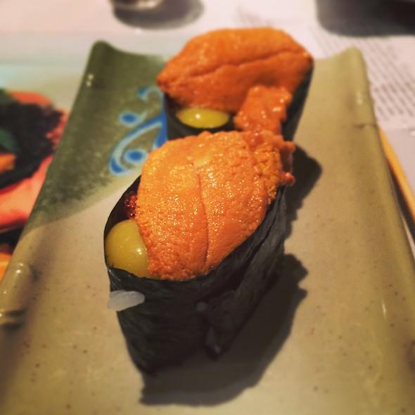 Uni With Quail Egg & Topiko @ Sansei Seafood Restaurant & Sushi Bar