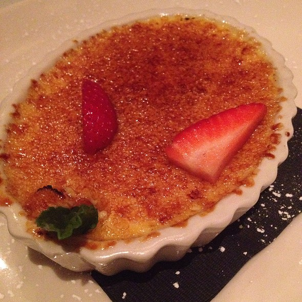 White Chocolate Creme Brulee  - Pampas Argentine Steakhouse, Johns Creek, GA