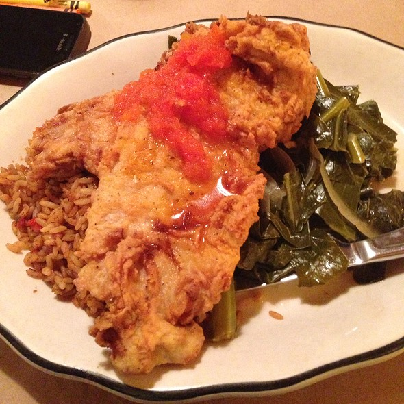 Pork Chops, Red Rice & Collards