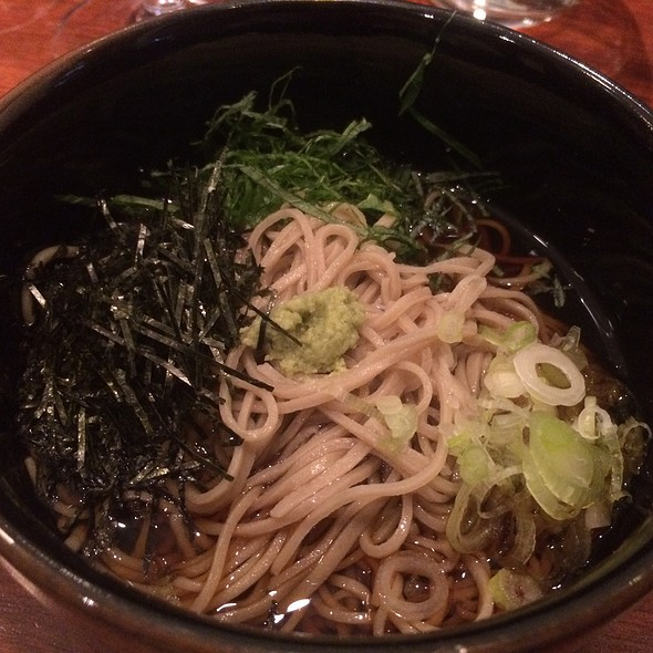 Hand Cut Soba Noodles With Fresh Wasabi