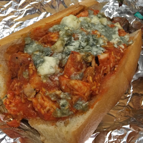 Sloppy Buffalo Chicken Sandwich @ Home
