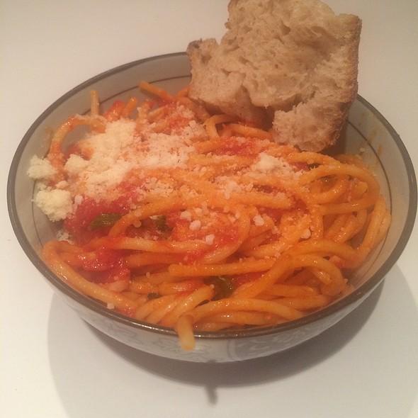 Spaghetti with Tomato Basil Sauce @ Delfina Restaurant
