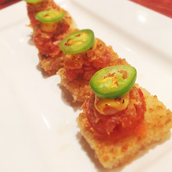 Crispy Rice with Spicy Tuna - Wabi Sabi, Venice, CA