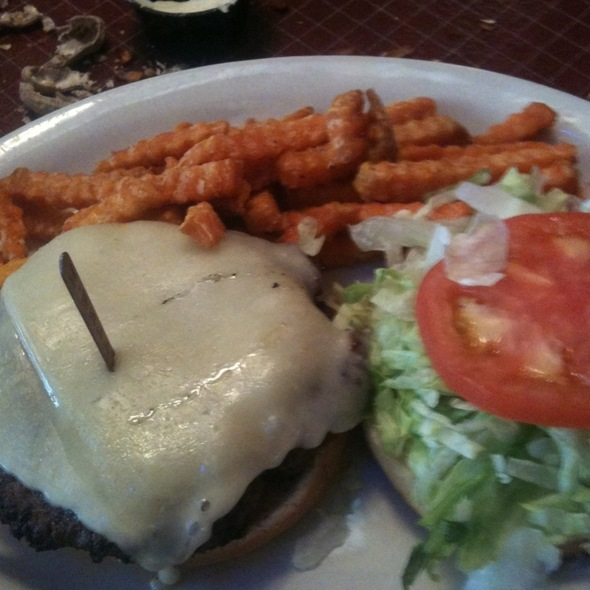 Old Fashioned Cheeseburger With Sweet Potato Fries @ Logan's Roadhouse