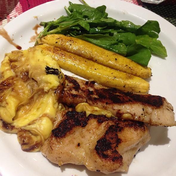 Pirarucu Fish W/ Mashed Peruvian, Grilled Banana
