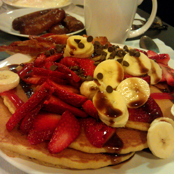 Strawberry Banana Pancakes @ Stacks Pancake House
