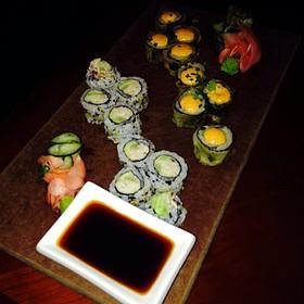 Sushi Assortment (Tuna Roll And California Roll) - Six One Six - JW Marriott Hotel Grand Rapids, Grand Rapids, MI