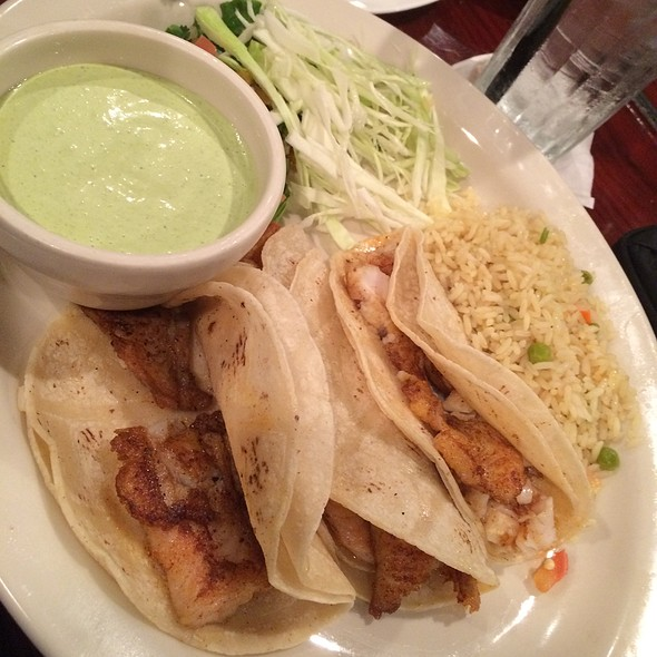 Grilled Fish Tacos With Side Of Cilantro Cream Sauce @ Tony's Mexican Restaurant