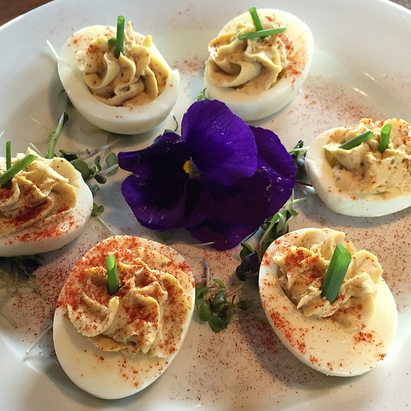 Habanero Oyster Deviled Eggs @ Bouy Beer Company