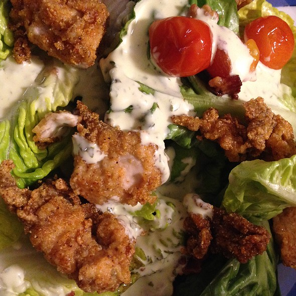 Little Gem & Fried Oyster Salad @ Brenda's Meat And Three