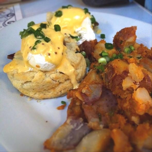 Eggs Benedict With Black Molasses Ham @ Brendas French Soul Food