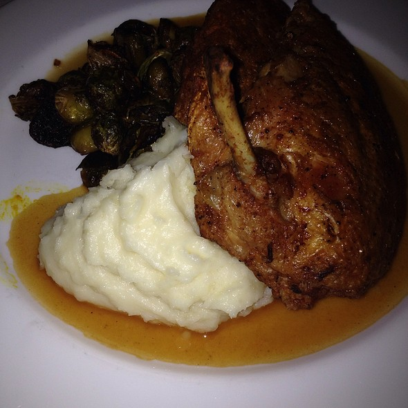 Crispy Roasted Chicken With Mashed And Brussel Sprouts - T-BAR Steak & Lounge (Upper East Side), New York, NY